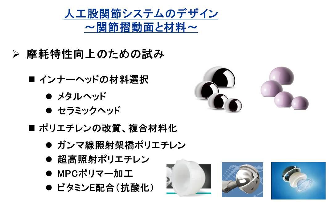 人工股関節システムのデザイン~関節摺動面と材料~